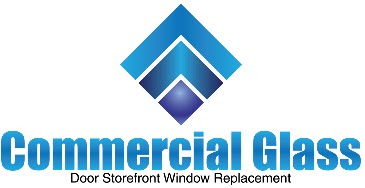 Commercial Glass Door Store Front Window Replacement Logo